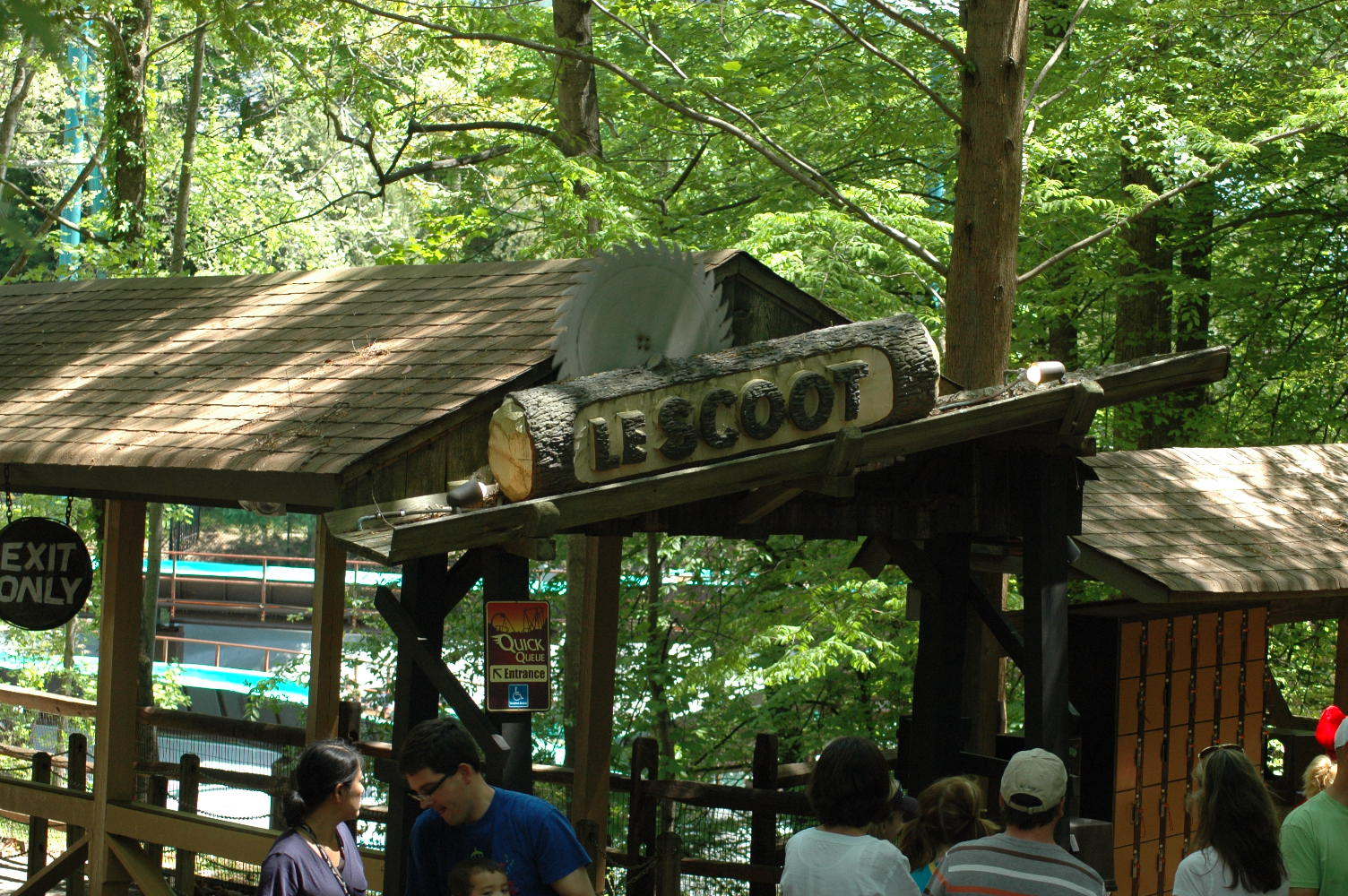 Beyond The Ride Le Scoot Log Flume Attraction Chasers