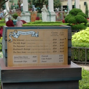 Howl-O-Scream - Italy - Ports-O-Skull - Menu